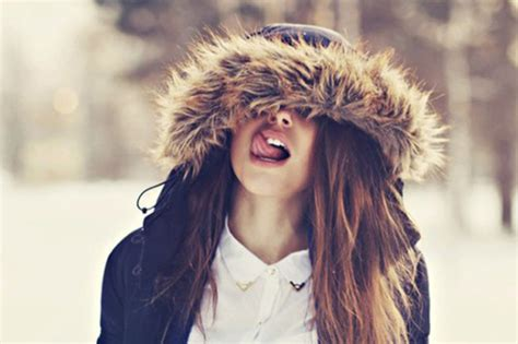 girl with brown hair in snow image 1618416 by lovely jessy on favim com