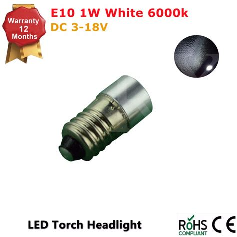 led light bulbs for flashlights 1pcs e10 flashlight bulb 1w emergency white light bulbs 3