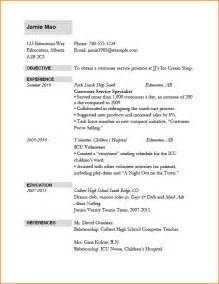 Resume Template For Application by 6 How To Make A Resume For Application Bibliography Format