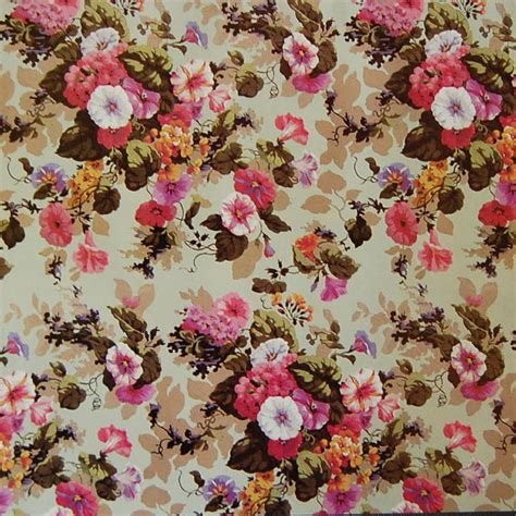Decoupage With Wrapping Paper - chintz vintage paper pink and white morning