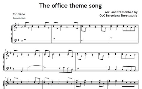 theme melody definition the office theme song piano sheet music