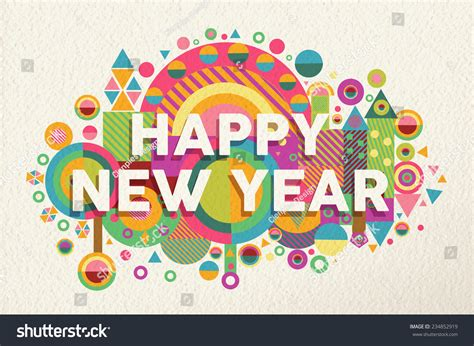 printable new year greeting cards 2015 happy new year 2015 quote design stock vector 234852919