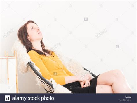 Staring At The Ceiling In The by Sitting In Chair Relaxing And Staring At The Ceiling Concept Stock Photo Royalty Free