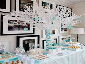 Ready made centerpieces winter baby shower decorations