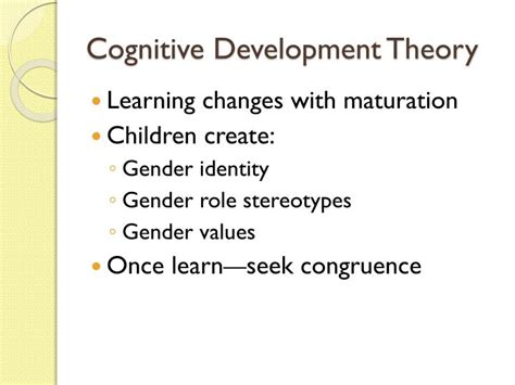 Cognitive Development Theory Ppt Gender Roles In The Family Powerpoint Presentation