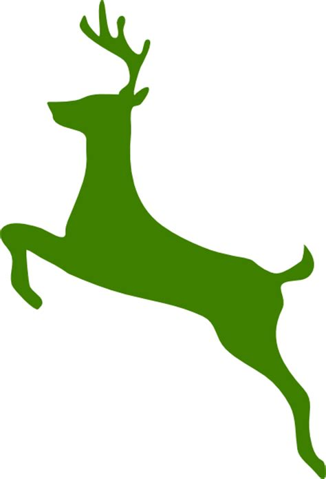 green reindeer clip art at clker com vector clip art