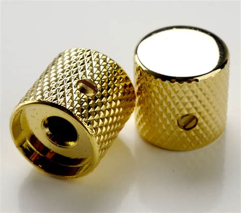 Gold Guitar Knobs by 60 S Flat Top Tele Knobs Gold
