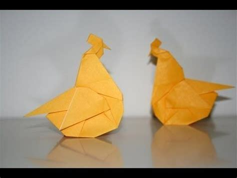 Origami Hen - origami chicken poule m s origami favorites