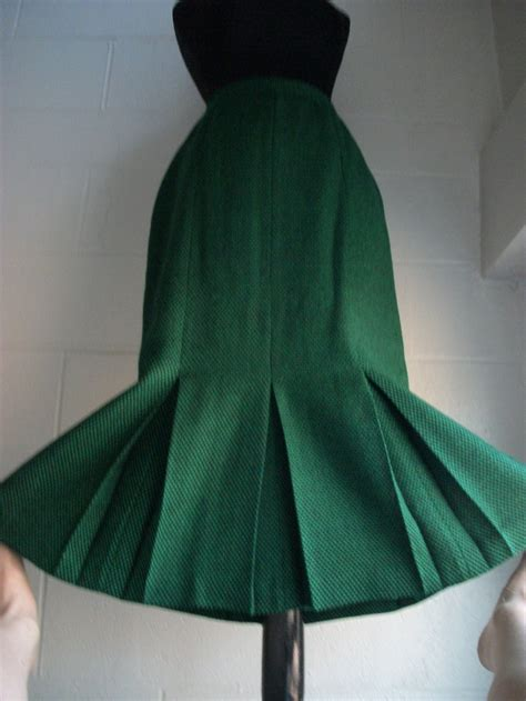 gored skirt with inverted pleats skirts