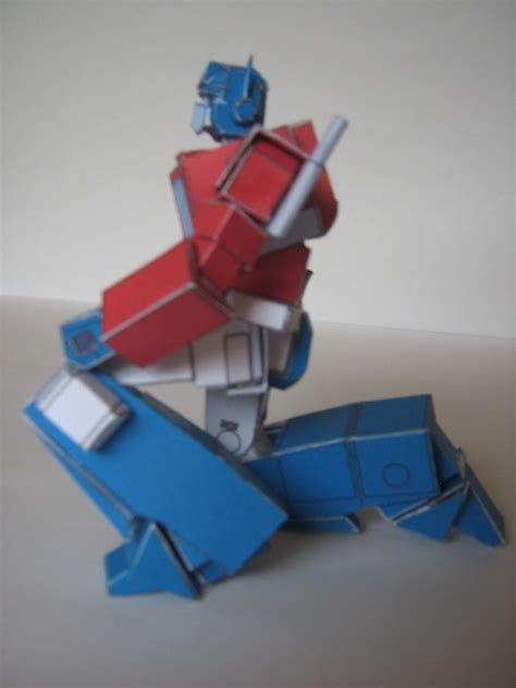 Transformers Papercraft Optimus Prime - g1 optimus prime papercraft by avon wulongti s words of wit
