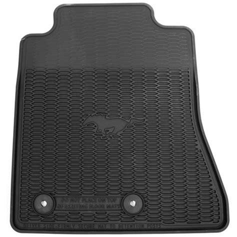 Mustang Rubber Floor Mats by Mustang Rubber Floor Mats W Pony Logo 15 18 Fr3z 6313300 Ba
