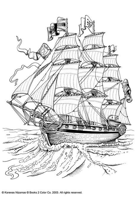 advanced landscape coloring pages bateau de pirates dessins