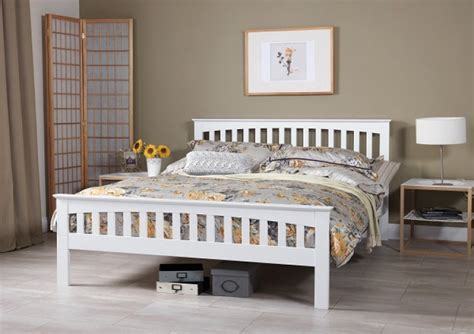 serene amelia ft small double white wooden bed frame
