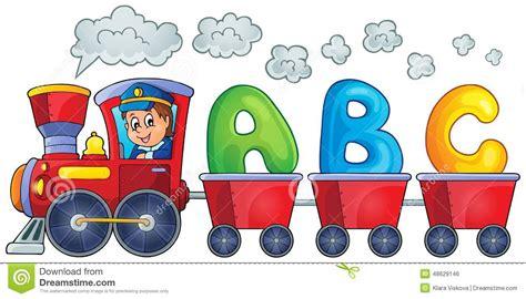 clipart treno tren con tres letras ilustraci 243 n vector imagen 48629146
