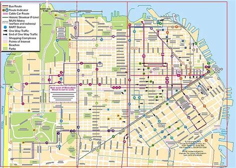 Trolley Map San Francisco by Trolley Car Map San Francisco
