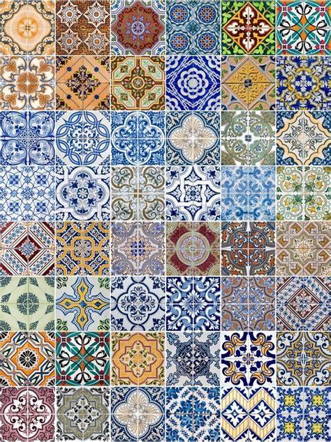 keramikfliesen muster satz 48 keramikfliesen muster portugal stockfoto