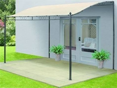 Wand Pavillon Metall by New Metal Wall Mounted Gazebo Awning 3mx3m Garden Patio Ebay