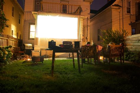 backyard theater how to project a movie outside popsugar tech