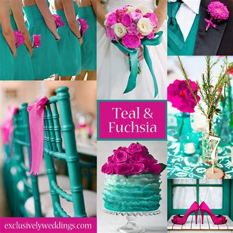 teal wedding colors teal and fuchsia wedding colors a vibrant palette for