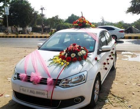 Wedding Car decoration Services   Wedding Car Front Side