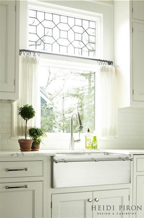 curtains for kitchen window above sink transitional white kitchen home bunch interior design ideas