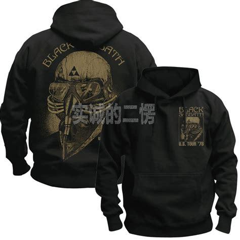 Jaket Hoodie The Iron Black black sabbath heavy metal black basic jacket iron stark never say die sweatshirt hoodie in