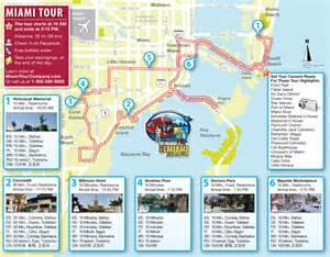 Miami Beach Bus Map by Miami Bus Tour Map Miami Beach 411 Travel Store