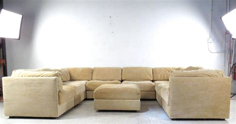 Large Selig Sectional Sofa With Ottoman Mid Century Sectional With Large Ottoman