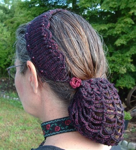 pattern for snood hair net crocheted snood pattern crochet and knitting patterns
