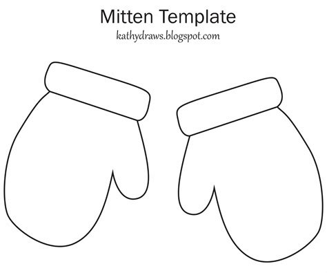 mitten template free coloring pages of a mitten with a pattern