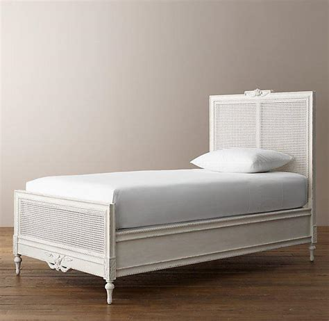 tan woven cane panels bed