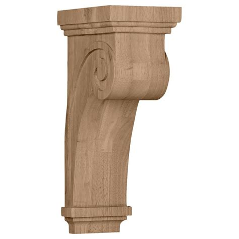 Solid Wood Corbels Ekena Millwork 8 1 4 In X 5 1 2 In X 16 In Unfinished