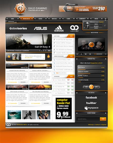 design game web 25 awesome game website designs for your inspiration
