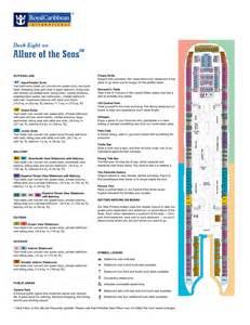 allure of the seas floor plan allure of the seas deck plans