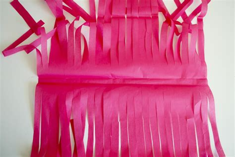 How To Make Paper Garland - tissue paper garland step by step how to
