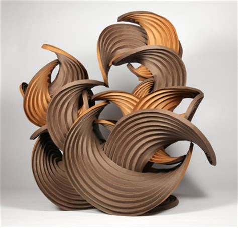 Erik Demaine Origami - curved crease sculpture by erik and martin demaine