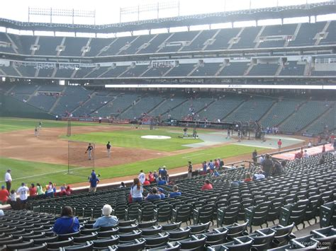 rangers sections lower level down the line globe life park baseball