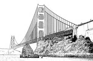 color of golden gate bridge golden gate bridge free printable coloring pages