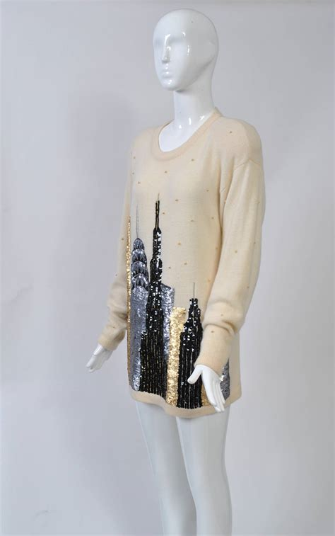 Sweater Skyline 1 1980s sequined ny skyline sweater for sale at 1stdibs