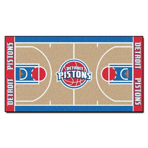 nba rugs fanmats detroit pistons 2 ft x 3 ft 8 in nba court rug runner 9486 the home depot