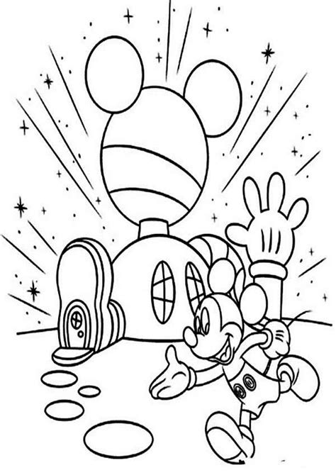 mickey mouse clubhouse coloring pages mickey mouse clubhouse mickey in front of his clubhouse