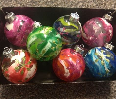 Crayon And Hairdryer clear glass ornament and melted crayon used a