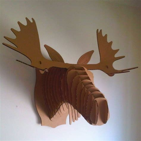 cardboard taxidermy templates cardboard moose for the home
