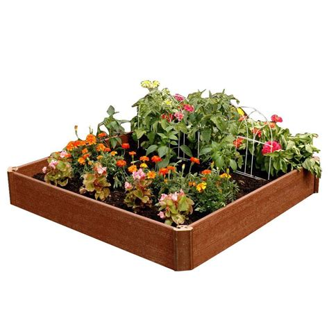 raised garden beds home depot composite wood raised garden beds garden center the home