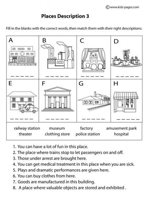 places worksheet 39 best images about places spl on places and dental care