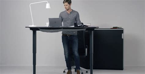 adjustable stand up desk ikea new ikea standing desk adjusts with push of a button