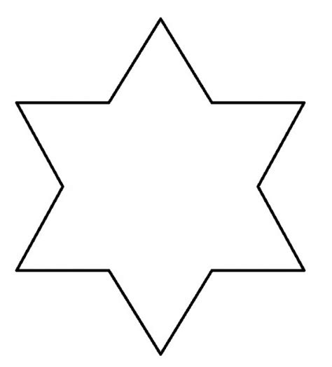 six point star clipart 23