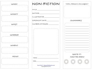 elements of a book report nonfiction features worksheets 3rd grade 1000 ideas