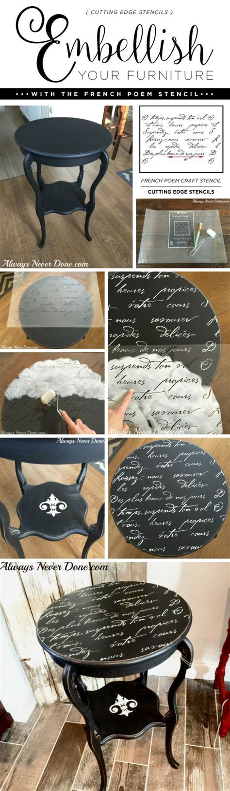 diy chalk paint scratches cutting edge stencils shares a diy side table makeover
