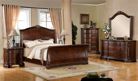 cherry bed penbroke brown cherry sleigh bed from furniture of